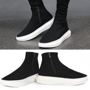Neoprene High Top Zip Up Ankle Sneakers 188