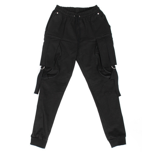 Double Zipper Side Big Pocket Jogger Pants